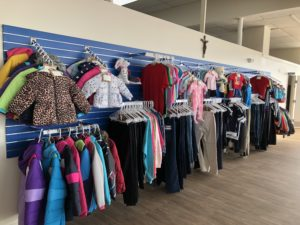 Sample Wall of Clothing Items
